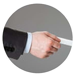 alfombrilla de ratón La gente de negocios el intercambio de tarjeta de visita sobre fondo gris - ronda - 20cm