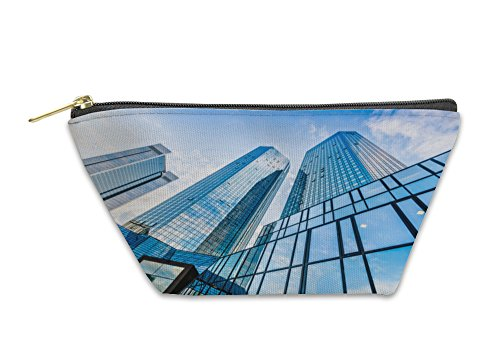 Gear New Accessory Zipper Pouch, Modern Skyscrapers In Business District With Blue Sky, Large, 5982148GN by Gear New
