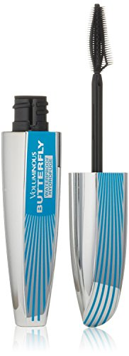 L'Oréal Paris Voluminous Butterfly Waterproof Mascara, Blackest Black (Pack of 2) (Mascara Effect Butterfly)