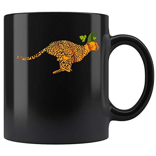 Cheetah Pumpkin Halloween Coffee Mug 11oz Tea Cups Gift -
