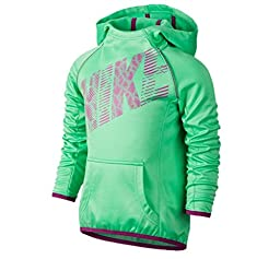 Nike Girls Epic Flash Pullover Reflective Hoodie (Child Size 6) Green/Purple 36A203