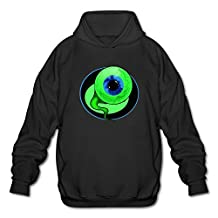 ToWi Men's Jacksepticeye EYE Fleece Hoodie Black M