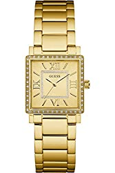 GUESS W0827L2,Ladies Dress,Stainless Steel,Gold-Tone,Crystal Accented Bezel,30m WR