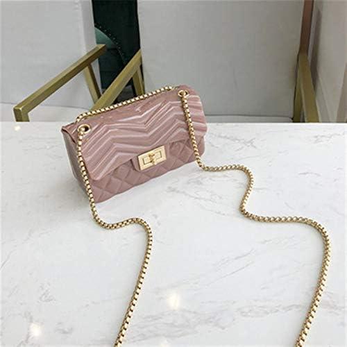 ファッションマット・フロストゼリーバッグ新鮮なレディーショルダーメッセンジャーバッグ 実用的 (色 : Pink)