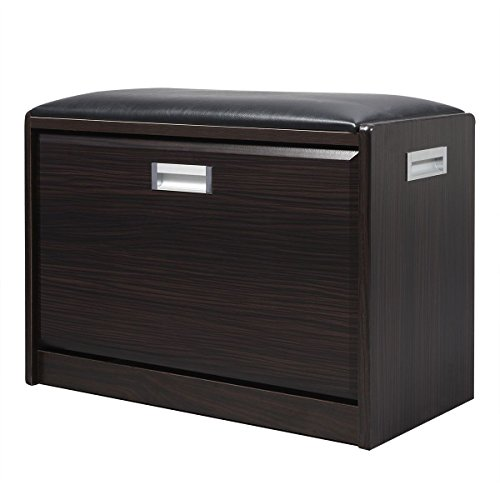MasterPanel - Wood Shoe Storage Bench Ottoman Cabinet Closet Shelf Entryway Multipurpose #TP3305 by MasterPanel (Image #2)