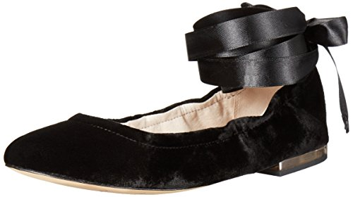 Sam Edelman Womens Fallon Balletto Nero Piatto Velluto