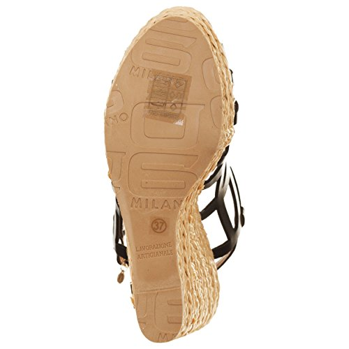 VialeScarpe O6-sa0517ne_40 - Sandalias de vestir de piel sintética para mujer negro negro 40 negro