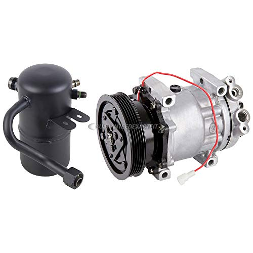 AC Compressor w/A/C Drier For Mazda 626 2.0L 1998 1999 2000 2001 2002 - BuyAutoParts 60-86274R2 New (A/c Compressor Mazda 626)