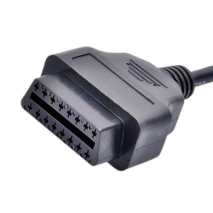 Unbekannt BMW Diagnose Stecker Adapter 16 Pin OBD2 auf OBD 20Pin für ...