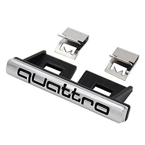 Car Styling Quattro Front Grille Emblem Badge Chrome Metal+