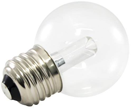 American Lighting Dimmable LED G50 Transparent Globe Light Bulbs, E26 Medium Base, 5500K Bright White, 25-Pack (E26 Lens)