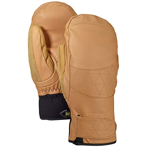 Burton Women's Gondy Gore-tex Leather Mitten, Camel, Medium