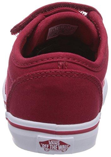 Vans ATWOOD V - zapatilla deportiva de lona infantil rojo - Rot ((Canvas) red/wh 5GH)