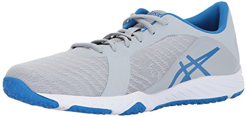 Mid Cross Training Shoe (ASICS Men's Defiance X Cross-Trainer-Shoes, Mid Grey/Directoire Blue/White, 7.5 Medium US)