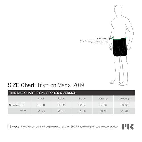 MY KILOMETRE Triathlon Shorts Mens 9'' with Adjustable Drawstring | Easy Reach Leg Pockets | Chamois for Long-Distance Tri Race Cycling Shorts by MY KILOMETRE (Image #3)