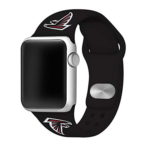 Game Time Atlanta Falcons Silicone Sport Band Compatible with Apple Watch - Band ONLY (42mm/44mm) ()