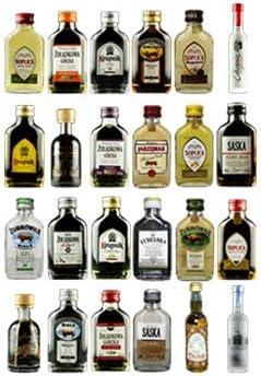 Wodka Adventskalender an handgefertigter Holztafel zum Aufhängen/Hinstellen (wiederverwendbar) | 24 x polnischer Wodka/Wodkalikör: jede Tür...