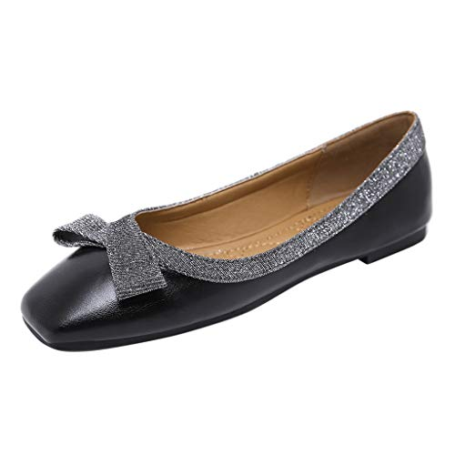 OrchidAmor Super Fashion Women's Shallow Mouth Lazy Shoes Sexy Sequins Casual Single Shoes Ladies's Shoes Black