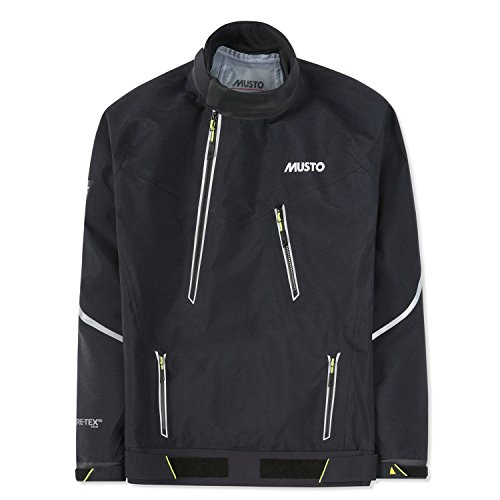 (Musto MPX Gore-Tex Pro Race Smock Waterproof, Windproof, and Breathable Black LG)
