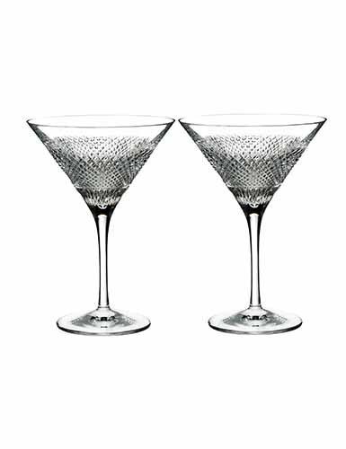 Waterford Diamond Line Martini Set of 2