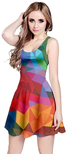 - CowCow Womens Colorful Abstract Iridescent Sleeveless Dress, Colorful - 3XL