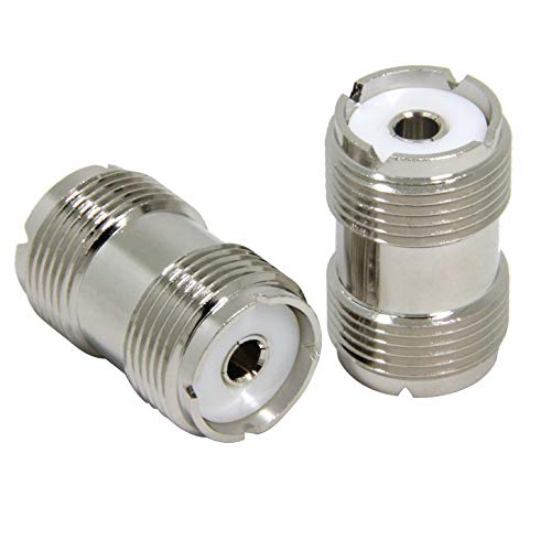 (Ancable UHF PL-259 Female to UHF PL-259 Female Coaxial Adaptor Connector Coupler Joiner for CB Ham Radio Antenna Pack of 2 )