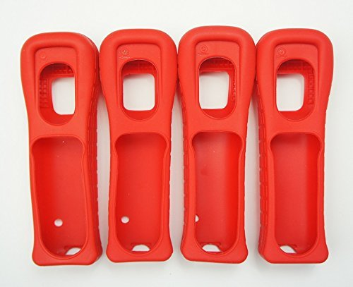 4X Nintendo Wii Remote Wiimote Cover Jacket Skin RED Mario (4 Pack)