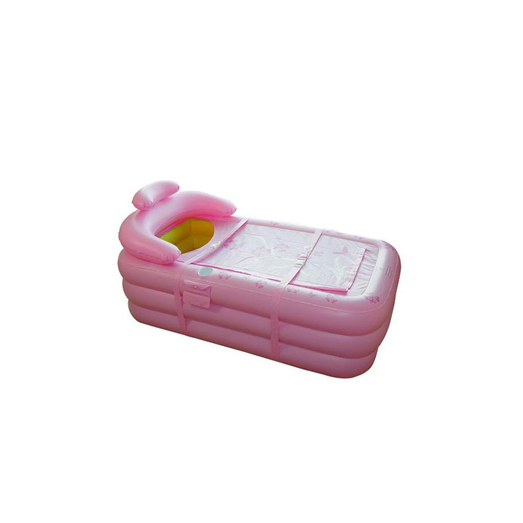 TangMengYun Aufblasbare Badewanne fü r Erwachsene Badewanne, Dickes faltendes Plastikbad-Fass-Kinderbadewanne (Color : Green - Hand Pump)