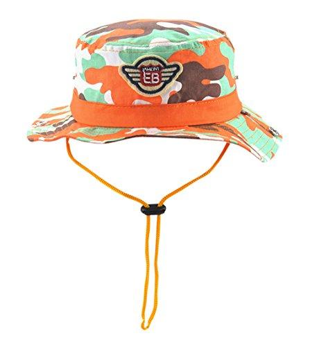 Garçon Outdoor Fille Coton Anti Enfant Soleil casquette Pliable uv De Orange Pêcheur En Acvip Chapeau Bob 46Rqxww