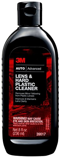 3M (39017) Lens & Hard Plastic Cleaner, 39017, 8 fl oz, 4 per case [You are purchasing the Min order quantity which is 4 BOTTLES]