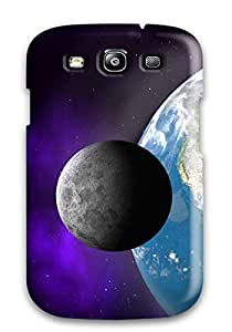 New Style Lillie Bauer Earth And Its Satellite Planet Nature Planet Premium Tpu Cover Case For Galaxy S3