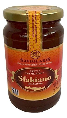 SFAKIANO (500g 1.1 lbs) Premium Raw Greek Thyme Honey from Sfakia Crete Greece by Saviolakis Family