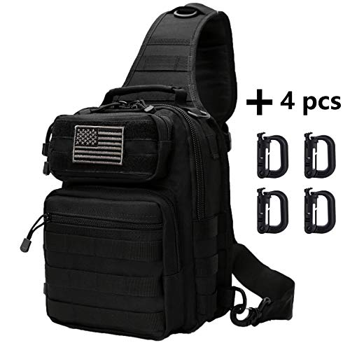 Neasyth Tactical Sling Bag Backpack Shoulder Chest Crossbody Bag Casual Outdoor Sport Travel Hiking Multipurpose Anti Theft Cross Body Bags Daypacks for Men