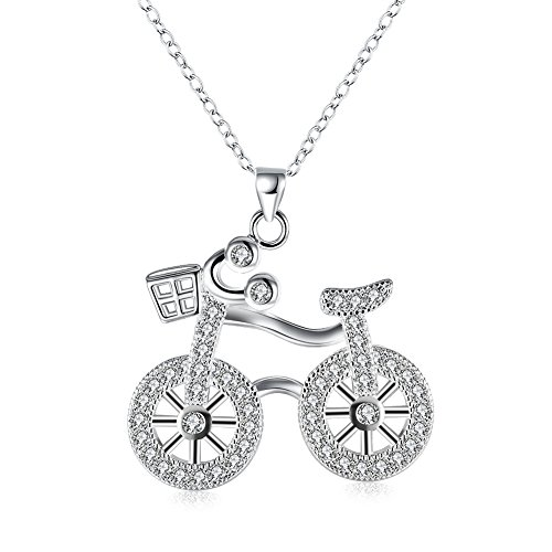 - Pendants for Women Necklace Mom Love Life Bicycle Necklace Pendant Chain Necklace for Mom Women Teen Girls (Bicycle)