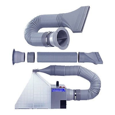 Exhaust Extension Hose Kit for Hobby Airbrush Spray Booth - Hose Extends up to 5.6 Feet (67 Inches) by Master Airbrush