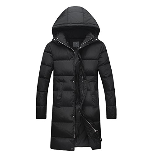 Yayu Mens Hooded Thicken Parka Long Down Jacket Warm Casual Coat Outwear