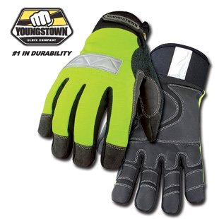 Youngstown Glove 08-3710-10 Safety Lime Waterproof Winter Glove