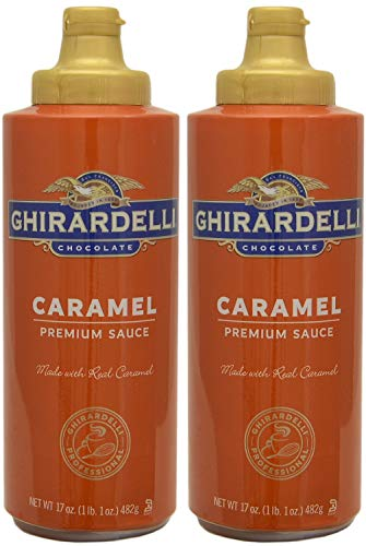 Ghirardelli Caramel Flavored Sauce 17 oz. Squeeze Bottle (Pack of 2)