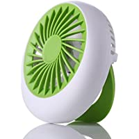 Round Shaped USB Smart Charging Exquisite Fan Handheld Mini Fan Small Fan For Office Student Desktop (Green)