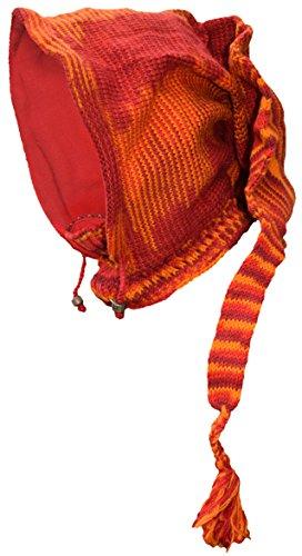 Poco forro de de de cuello lana campana bufanda de larga de Pixie polar con Tie nbsp;Braga sombrero tejer Katmandú nbsp;– Dye Orange de rrz5Mwqf