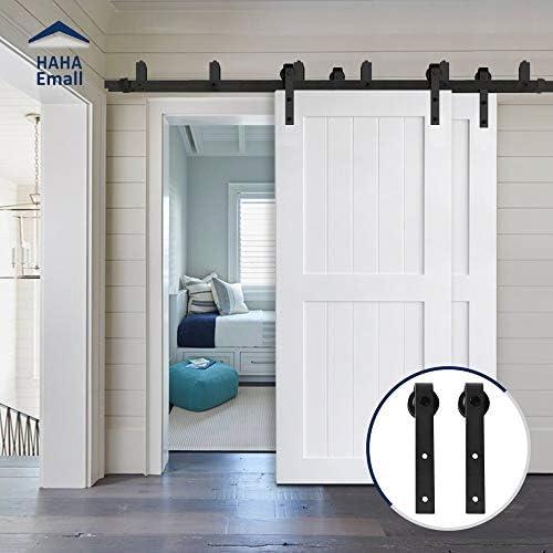 Hahaemall - Sistema de rodillos de acero para puerta corredera de bypass de 1,5 a 40,6 m (forma de gancho): Amazon.es: Bricolaje y herramientas