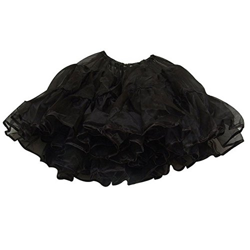 Top Rated Petticoat Crinoline. Perfect petticoat skirt for Vintage dresses, Petticoat dresses, poodle skirts, or as Rockabilly Adult Tutu Skirt. Tulle fabric; 22' length - Black (Organza Petticoat)