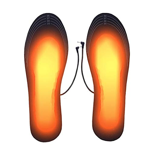 Heated Insoles, USB Rechargeable Heated Shoes Pad (Size 35-46), DIY Customizable Electric Heated Insoles for Outdoor | Camping | Skiing Winter Insole Foot Warmers uninclude Battery