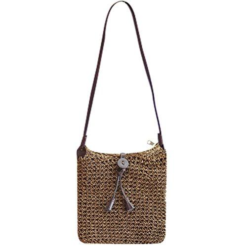 Purse Handbag Straw Women Straw Bag Sling Crochet Cute Pt1 Shoulder Beach Abuyall Summer Hollow Bow Out Lace wqHx7Zpd5