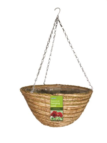 Gardman 02786 2-Tone Rope Hanging Basket, Multi-Colour, 35 cm, 14-Inch ()