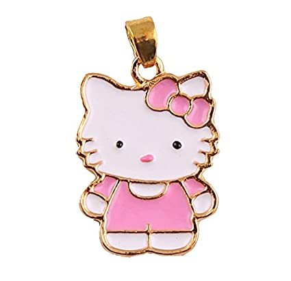 8fff3496a Image Unavailable. Image not available for. Color: Hello Kitty Large Charm  or Pendant, 24K Gold Plated ...