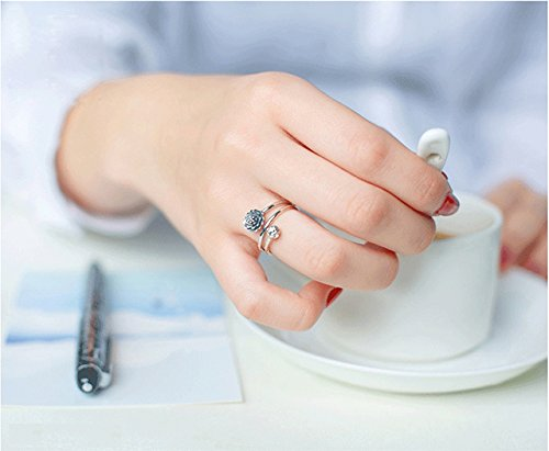 Generic 925 sterling silver rings women girls lady national fashion retro personality tide Thai silver three-tier lotus bud opening index finger by Generic