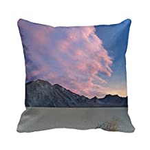 Home Decorative Square Custom Throw Pillow Cover Nature Landscapes 20 X 20Inches Cotton Comfortable Throw Pillowcase(Twin Sides)