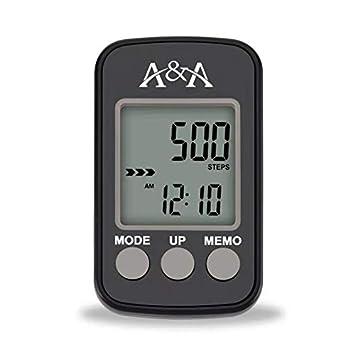 Podómetro para caminar, con pantalla LCD 3d Sensor de movimiento y Clip y correa,