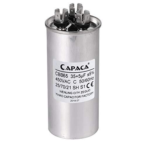 BlueCatELE 35+5 CBB65 Air Conditioner Capacitor Round Dual Run Capacitor Replace 97F9834